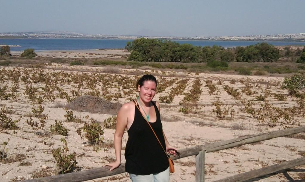 Semester abroad #4: Carolins Auslandspraktikum - Carolin im Naturpark La Mata Torrevieja 1024x614
