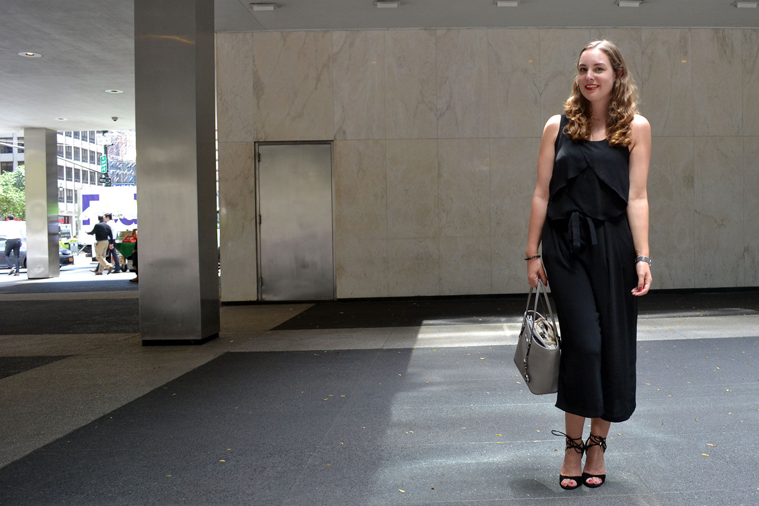 Outfit: Black & Grey // Culottes | New York - DSC 0233
