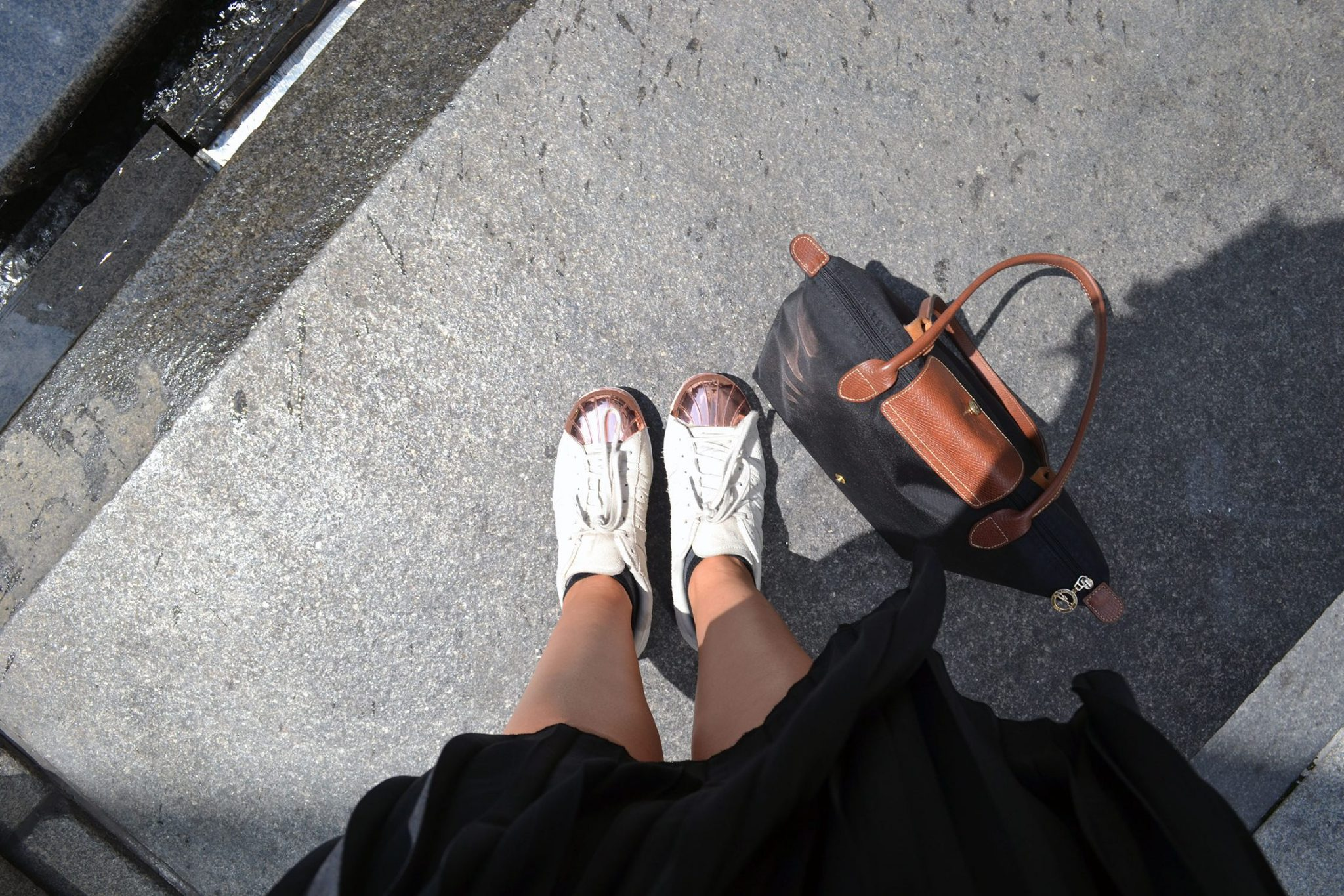 Outfit: Plisse Skirt & Adidas Superstar Metal Toes | New York - Plisse Rock 1 e1471745737144