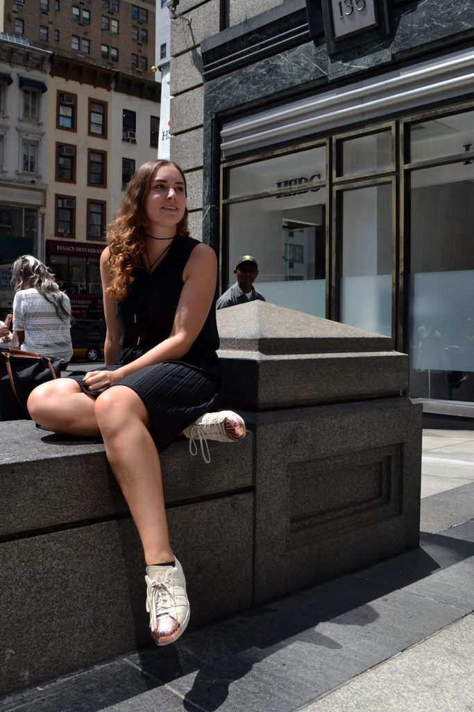 Outfit: Plisse Skirt & Adidas Superstar Metal Toes   New York - Plisse Rock 8 683x1024