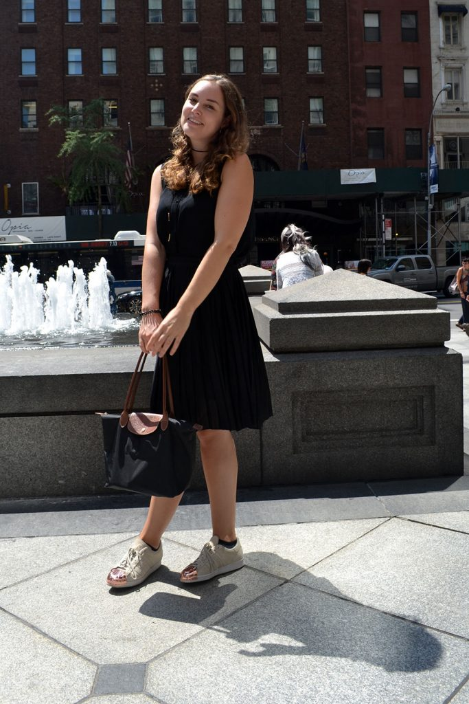 Outfit: Plisse Skirt & Adidas Superstar Metal Toes | New York - Plisse Rock 9 683x1024