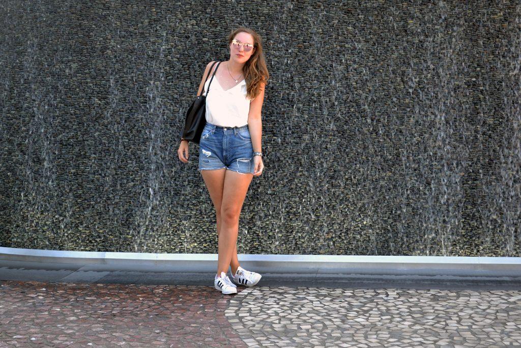 Outfit: Levi's Shorts // Rosegold Sunglasses | Las Vegas - Rosegold Sunglasses 8 1024x683