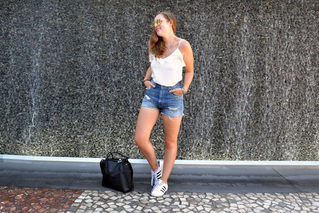 Outfit: Levi's Shorts // Rosegold Sunglasses | Las Vegas - Rosegold Sunglasses 9 1024x683