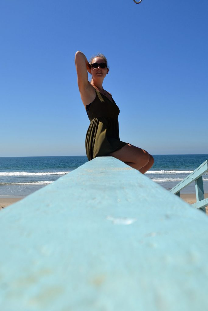 Outfit: Playsuit // Laced Up Flats   Venice Beach - Playsuit 3 683x1024