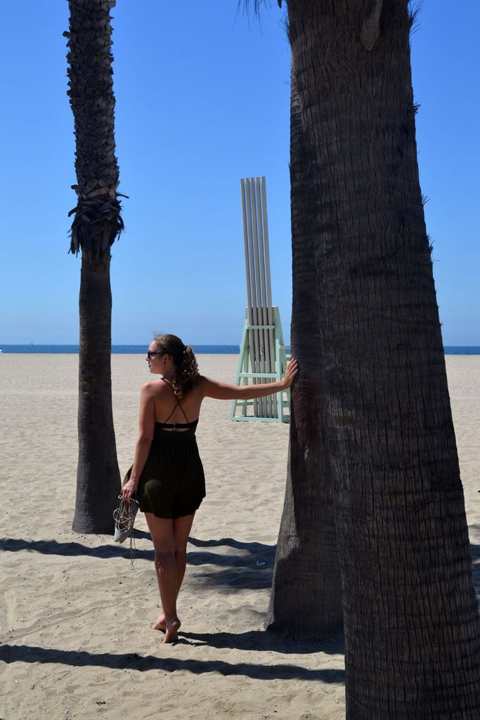 Outfit: Playsuit // Laced Up Flats   Venice Beach - Playsuit 5 683x1024