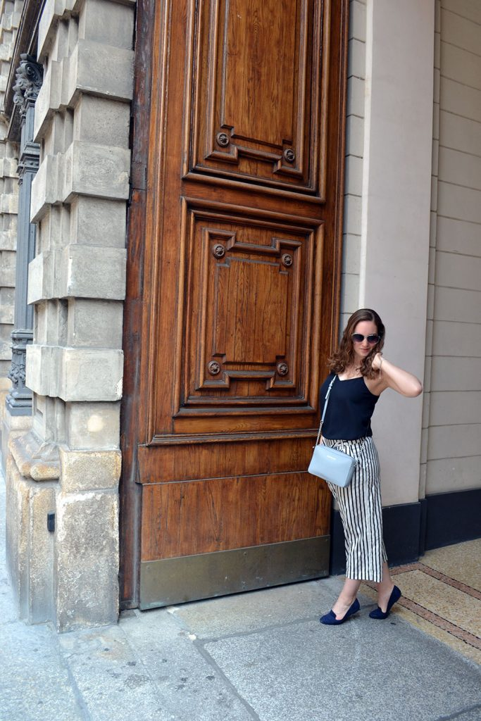 Outfit: Striped Culottes & Loafers | Milan - Striped Culottes 7 683x1024